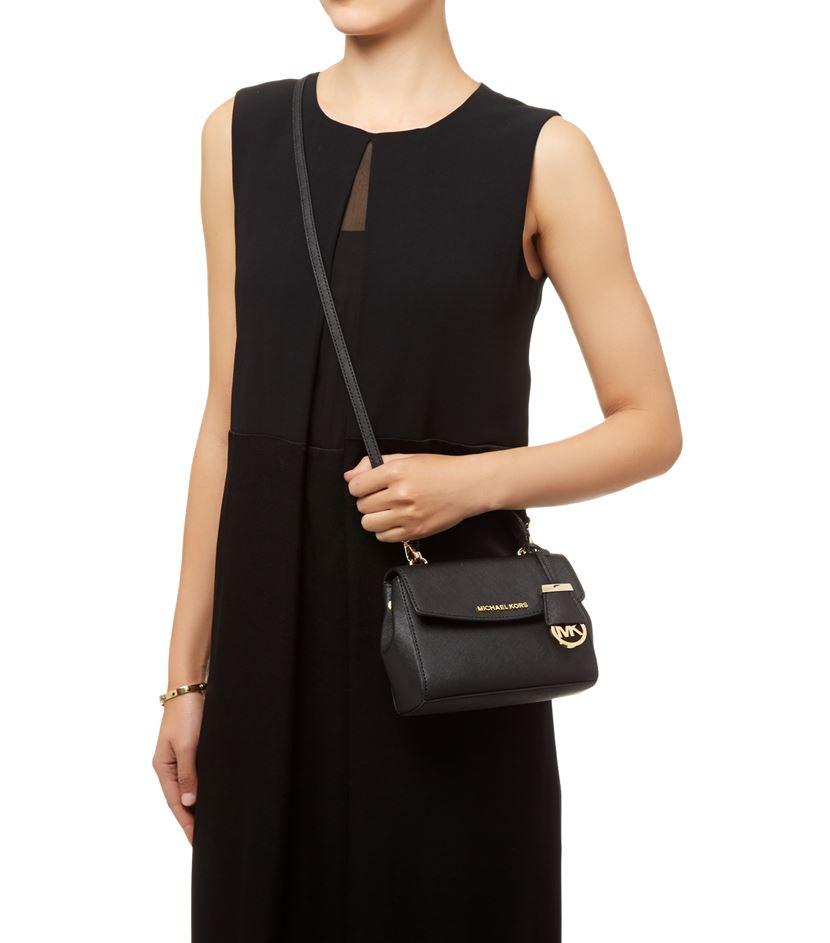 bf491a195523 MICHAEL Michael Kors Ava Cross Body Bag in Black - Lyst