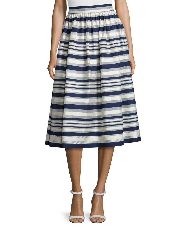 erin fetherston quinne striped midi skirt lyst