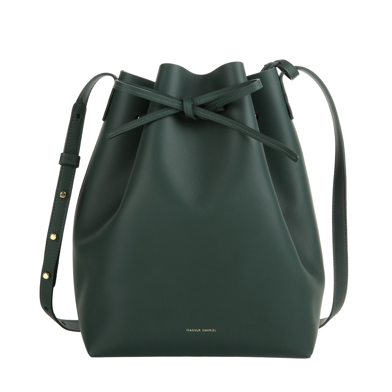 mansur gavriel bucket bag in green lyst. Black Bedroom Furniture Sets. Home Design Ideas