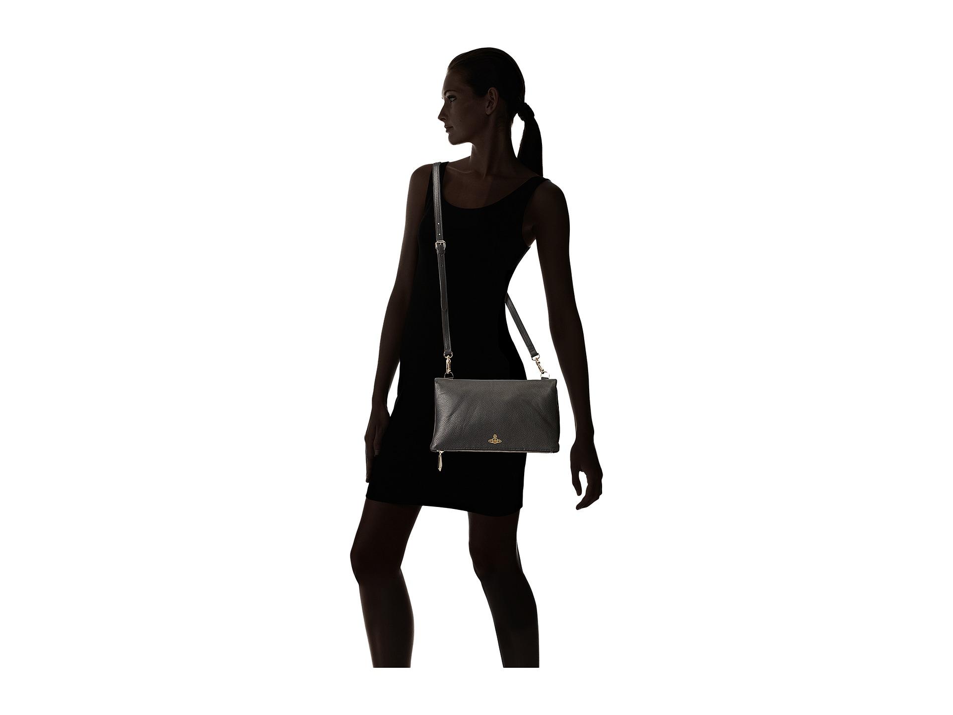 6d89220390f1 Lyst - Vivienne Westwood Spencer Crossbody Clutch in Black
