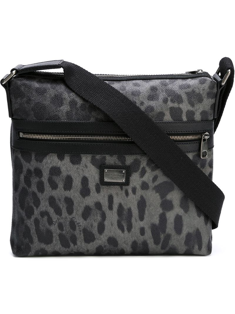 50a0480bb5 Lyst - Dolce   Gabbana Leopard-Print Shoulder Bag for Men