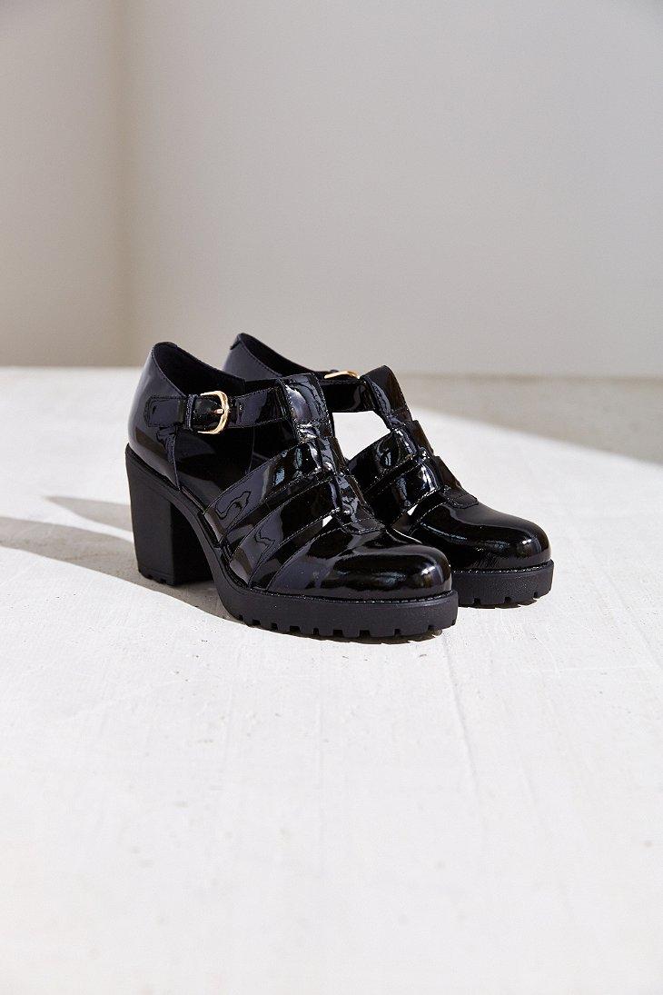e5d5f5d81f Lyst - Vagabond Patent Leather Grace Heel in Black