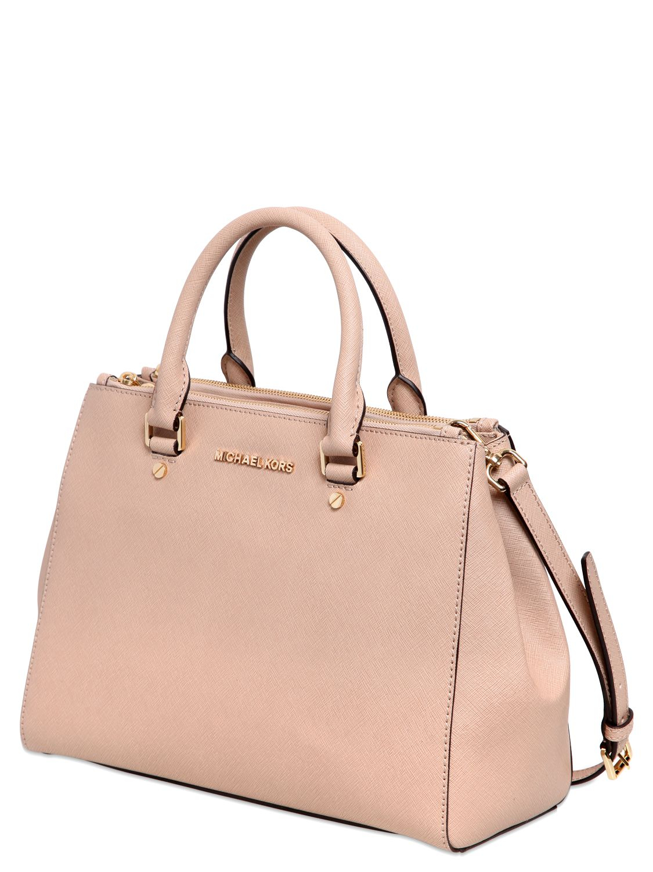 e8bcd390b12ea6 MICHAEL Michael Kors Medium Sutton Saffiano Leather Bag in Pink - Lyst