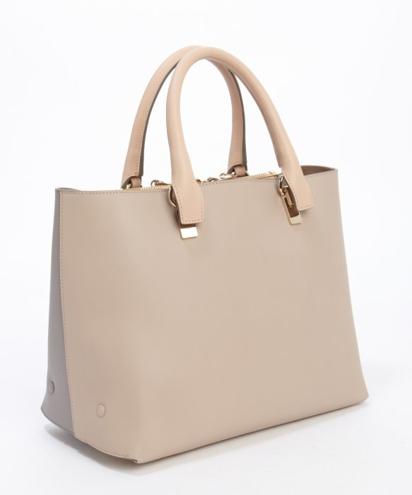 chloe marshmallow grey leather handbag