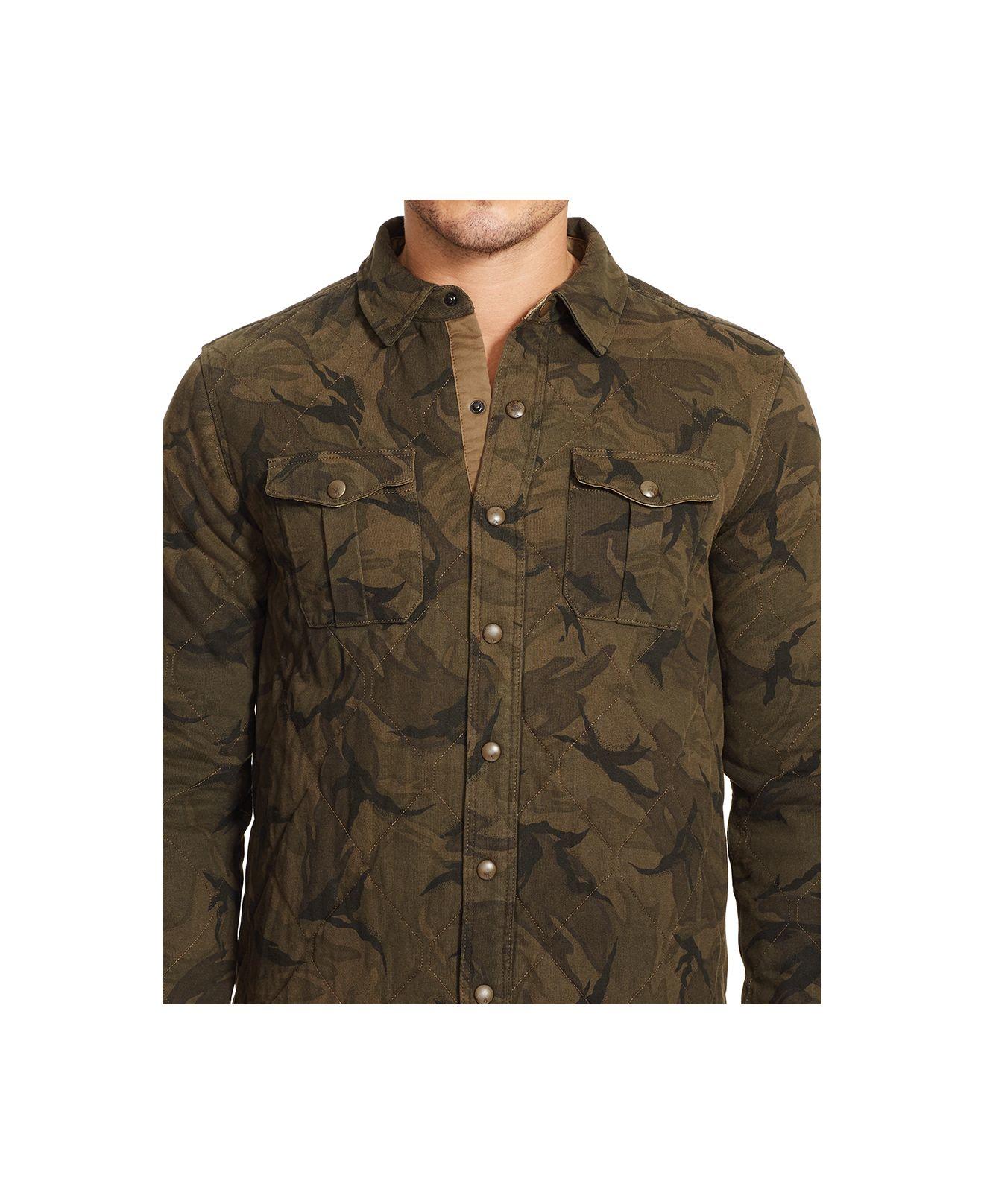Polo ralph lauren men 39 s camo military shirt in green for for Camo polo shirts for men
