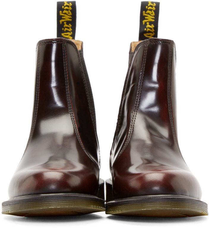 Lyst - Dr. Martens Red Flora Chelsea Boots in Red 9c2bd6c67a