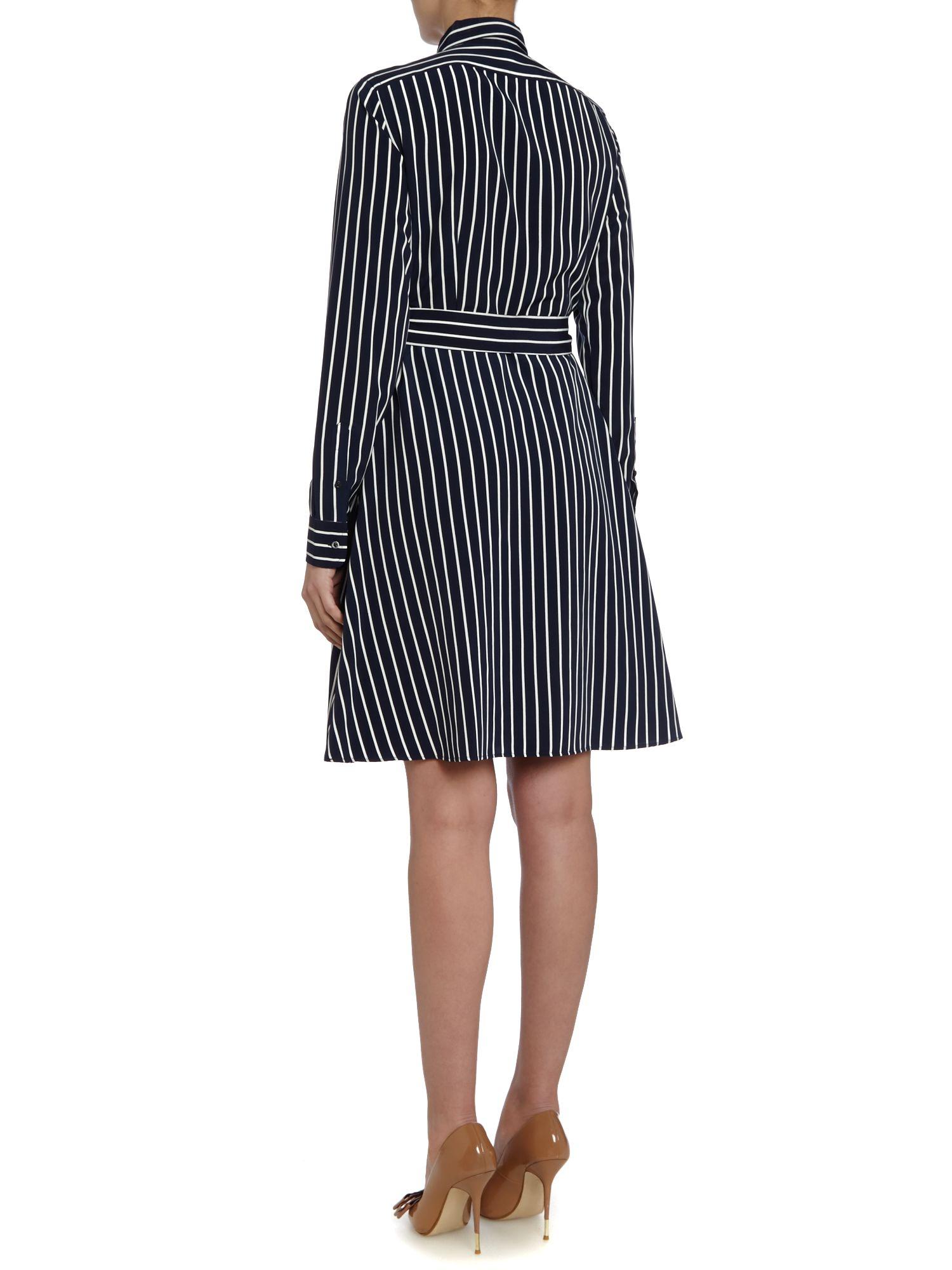 Lauren By Ralph Lauren Long Sleeved Stripe Button Up Shirt