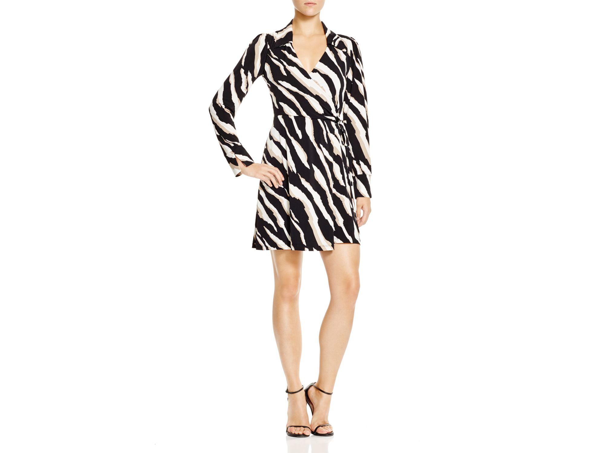 Lyst Laundry By Shelli Segal Zebrarama Print Wrap Dress