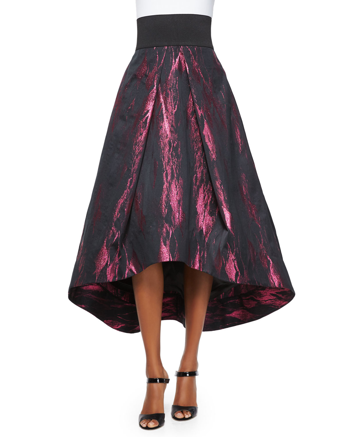 07def6b7d5aabb MILLY High-low Tucked Ball Skirt in Purple - Lyst