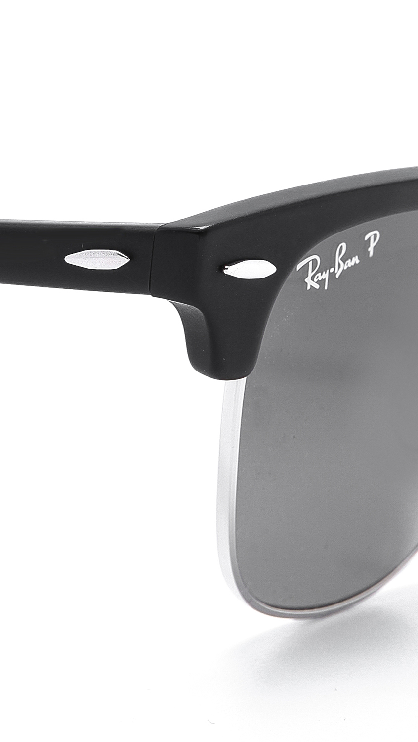 Lyst Ray Ban Clubmaster Folding Polarized Sunglasses In