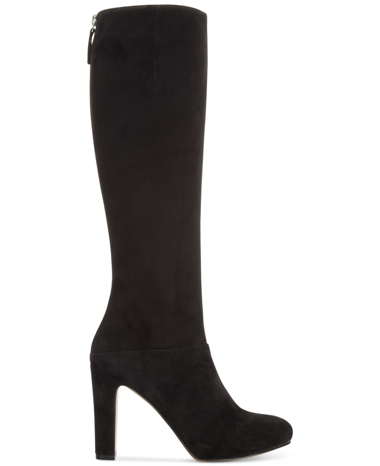 nine west gofish suede dress boots in black lyst