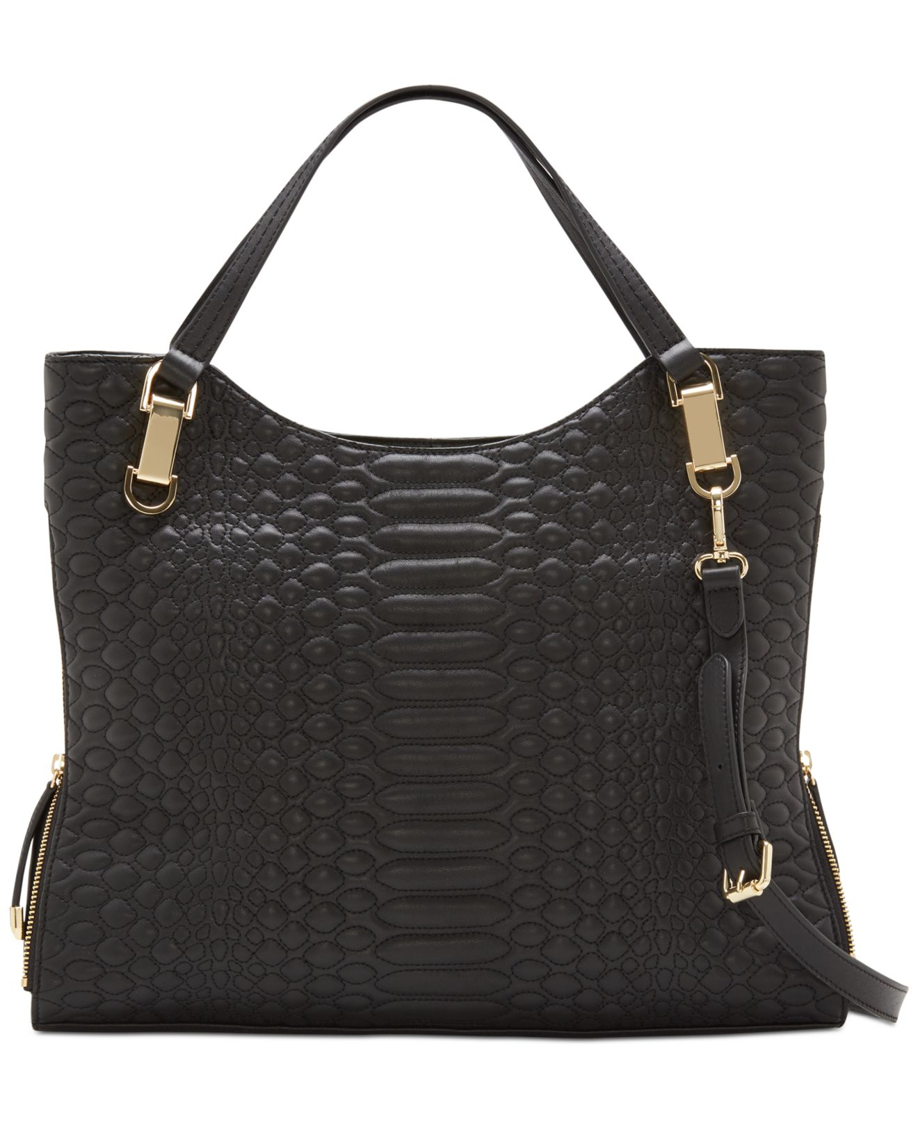 Lyst Vince Camuto Quilted Riley Tote In Black