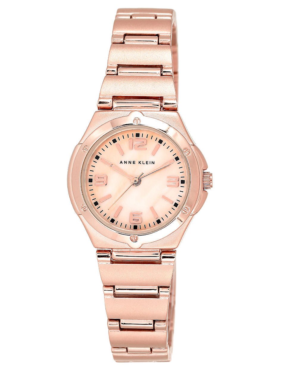Lyst anne klein ladies rose goldtone bracelet watch in pink for Anne klein rose gold watch set