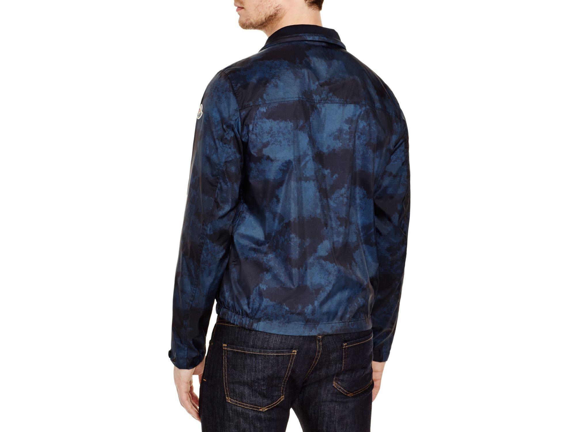 moncler blue camo jacket