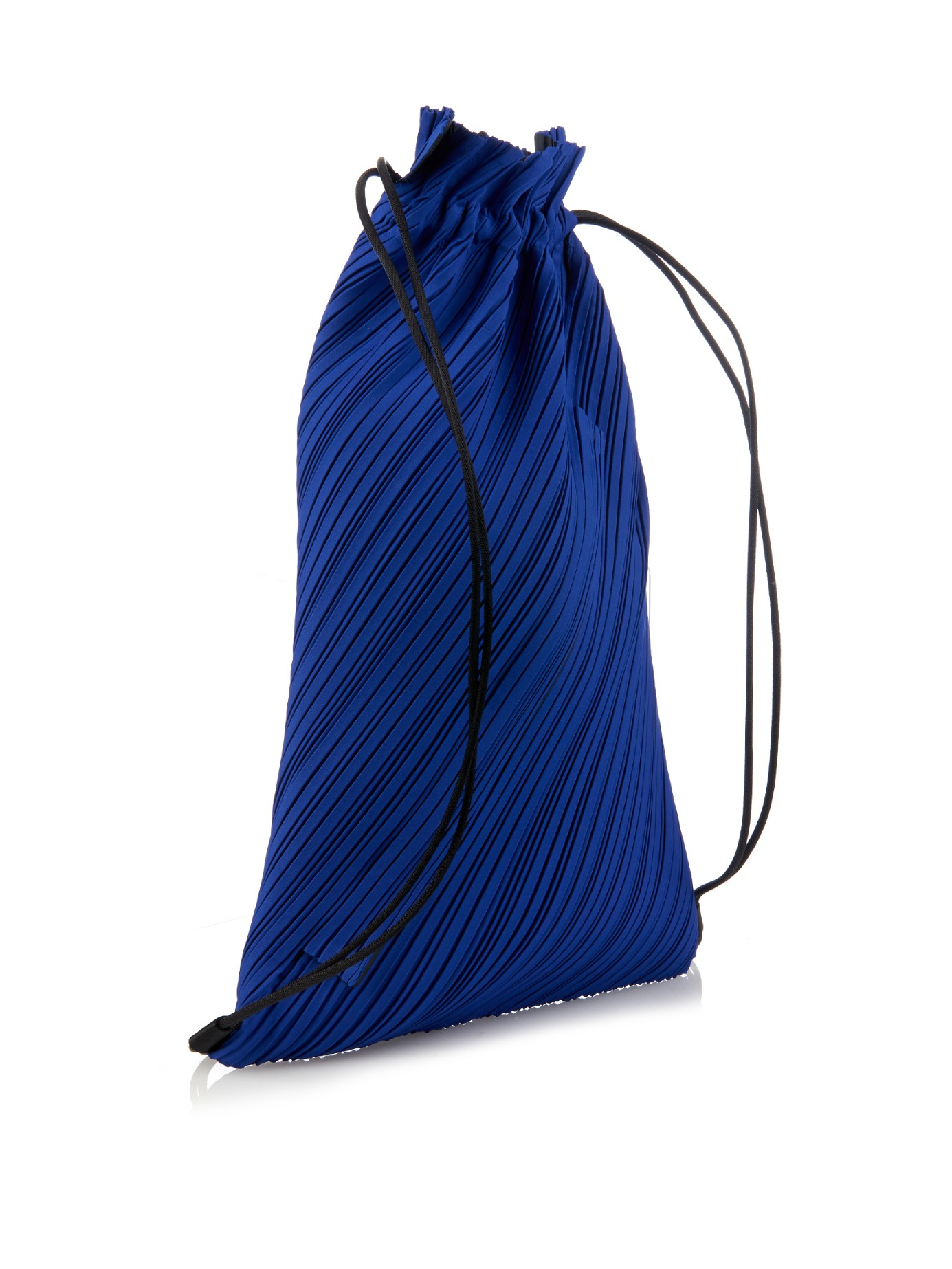 Lyst - Pleats Please Issey Miyake Pleated Drawstring Backpack in Blue 986e220caecb5