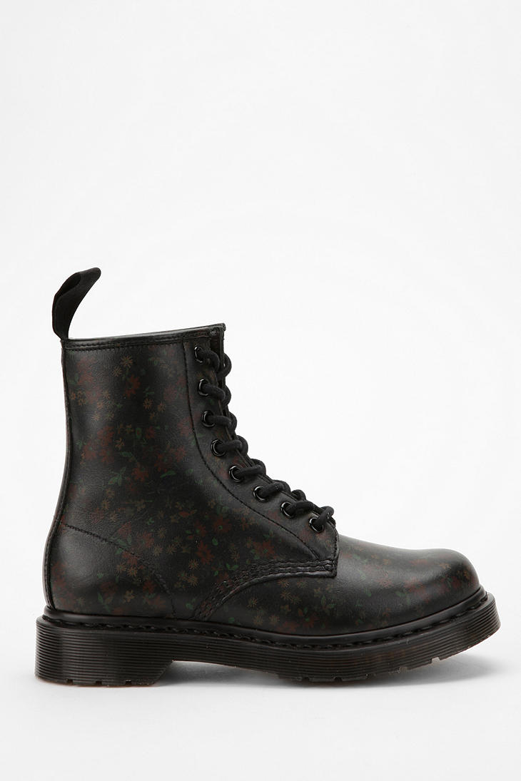 Lyst dr martens little flower 8eye boot in black gallery mightylinksfo Image collections