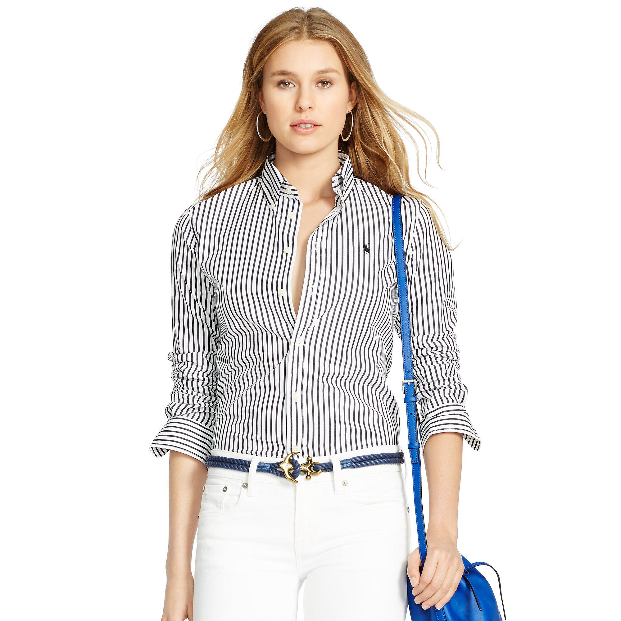 Polo Ralph Lauren Slim Fit Oxford Shirt Womens c7efe9aa6