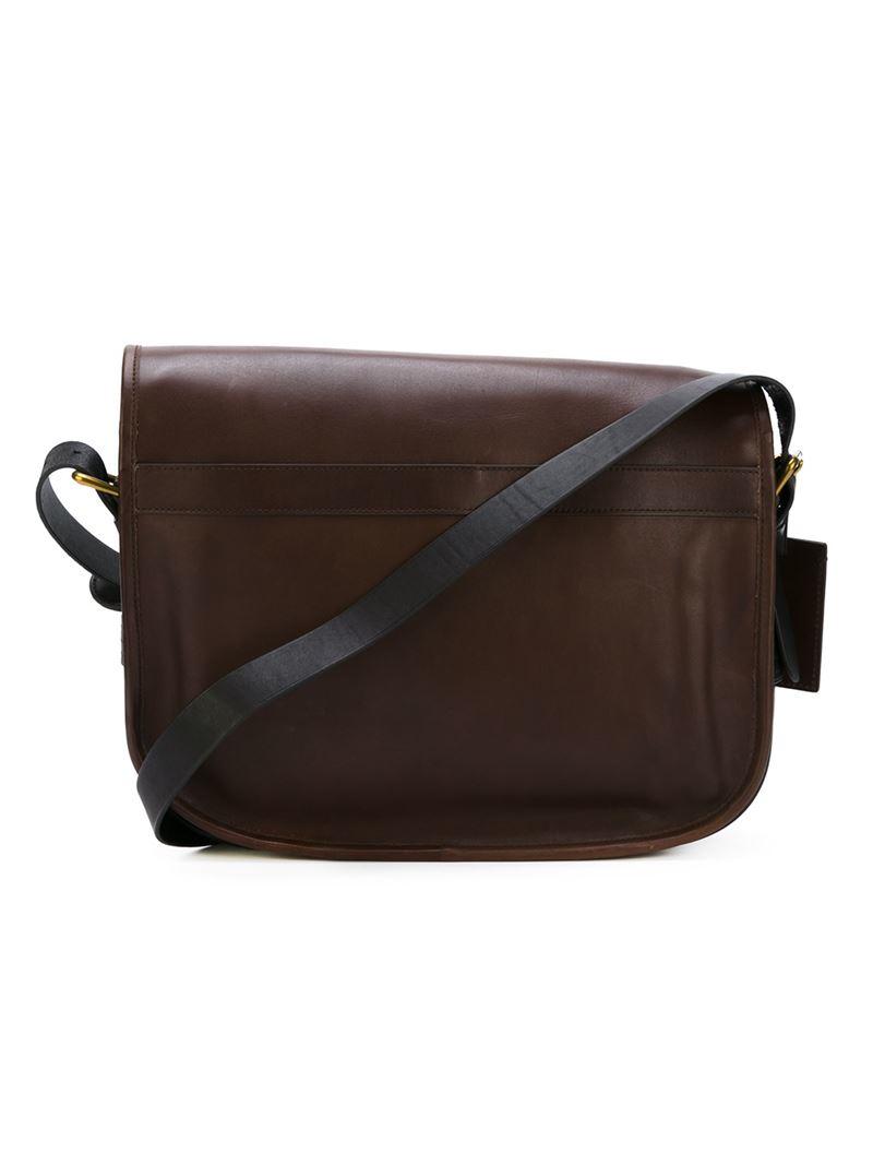 Polo Ralph Lauren Classic Messenger Bag In Brown For Men