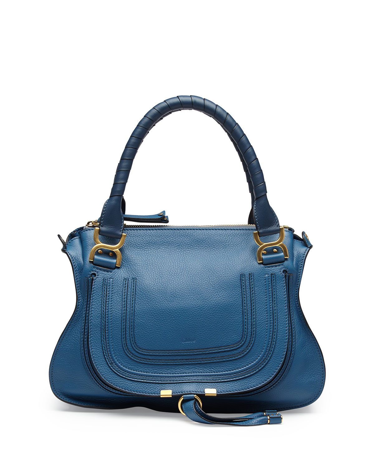 lyst chlo marcie medium satchel bag in blue. Black Bedroom Furniture Sets. Home Design Ideas