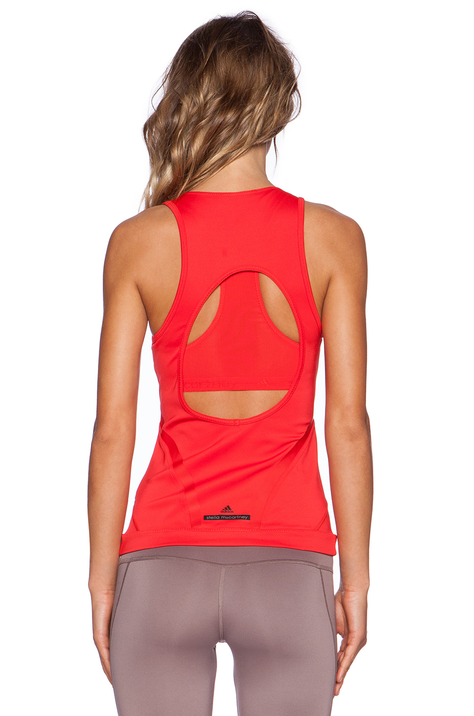 f0acee05ba57e Lyst - adidas By Stella McCartney Running Tank in Red