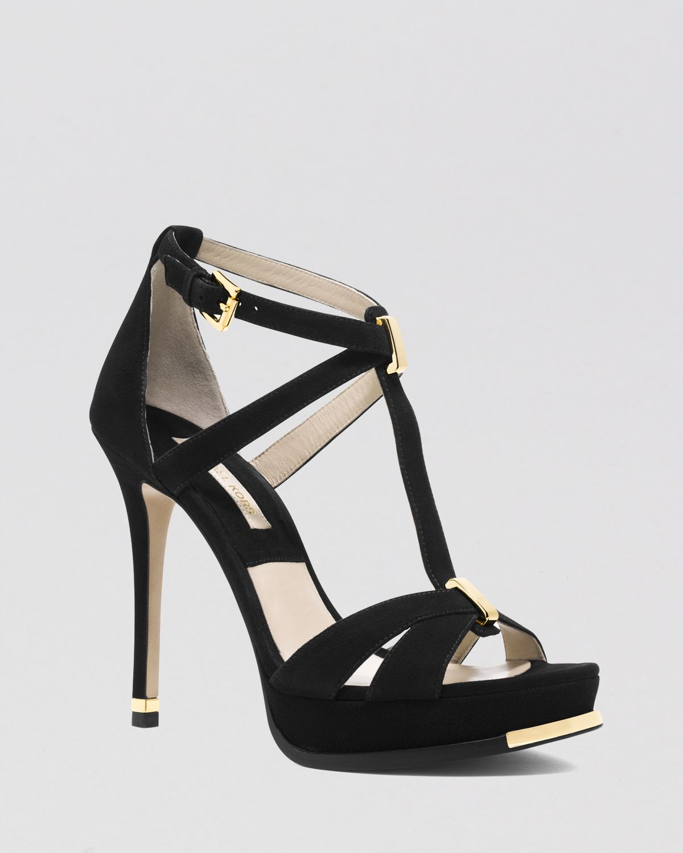 393582054745 Lyst - Michael Kors Open Toe Platform Sandals - Leandra High Heel in ...
