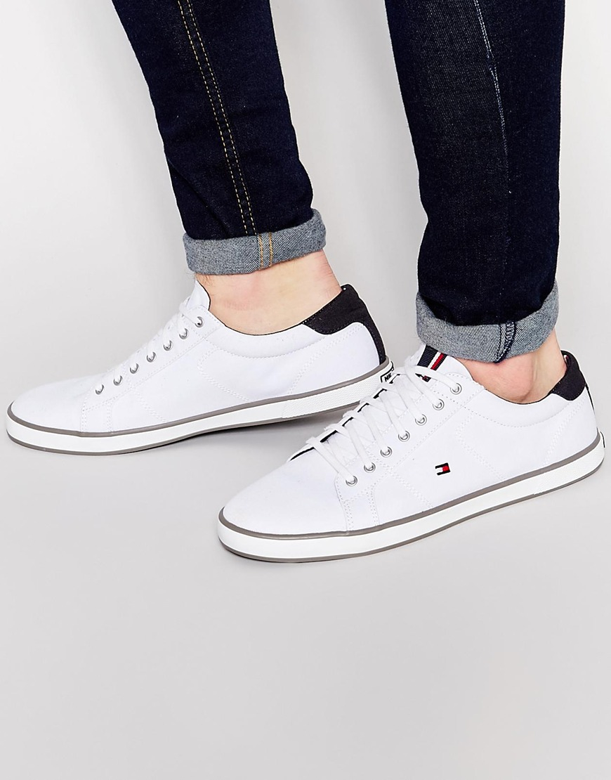 8ee44cc0a8bdd0 Tommy Hilfiger Harlow Lace Up Plimsolls - White in White for Men - Lyst