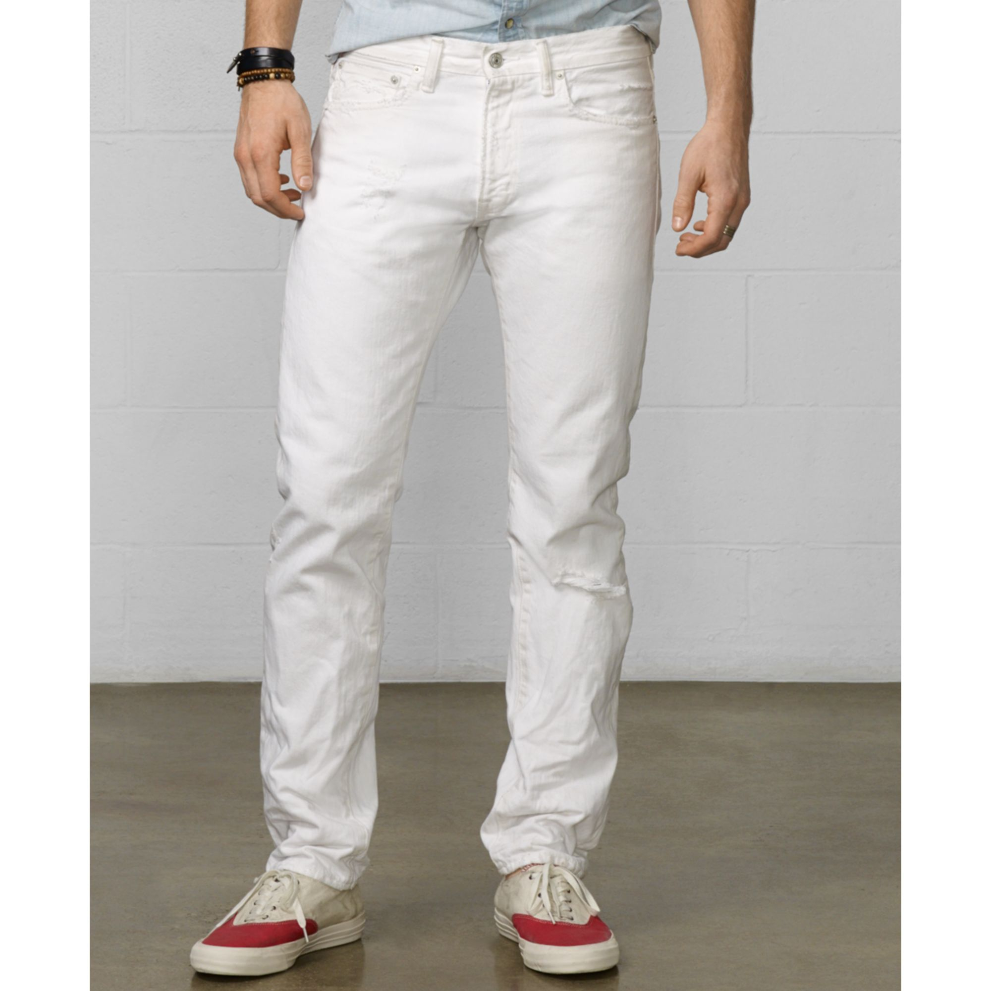 denim supply ralph lauren straightleg carsville jeans in white for men lyst. Black Bedroom Furniture Sets. Home Design Ideas