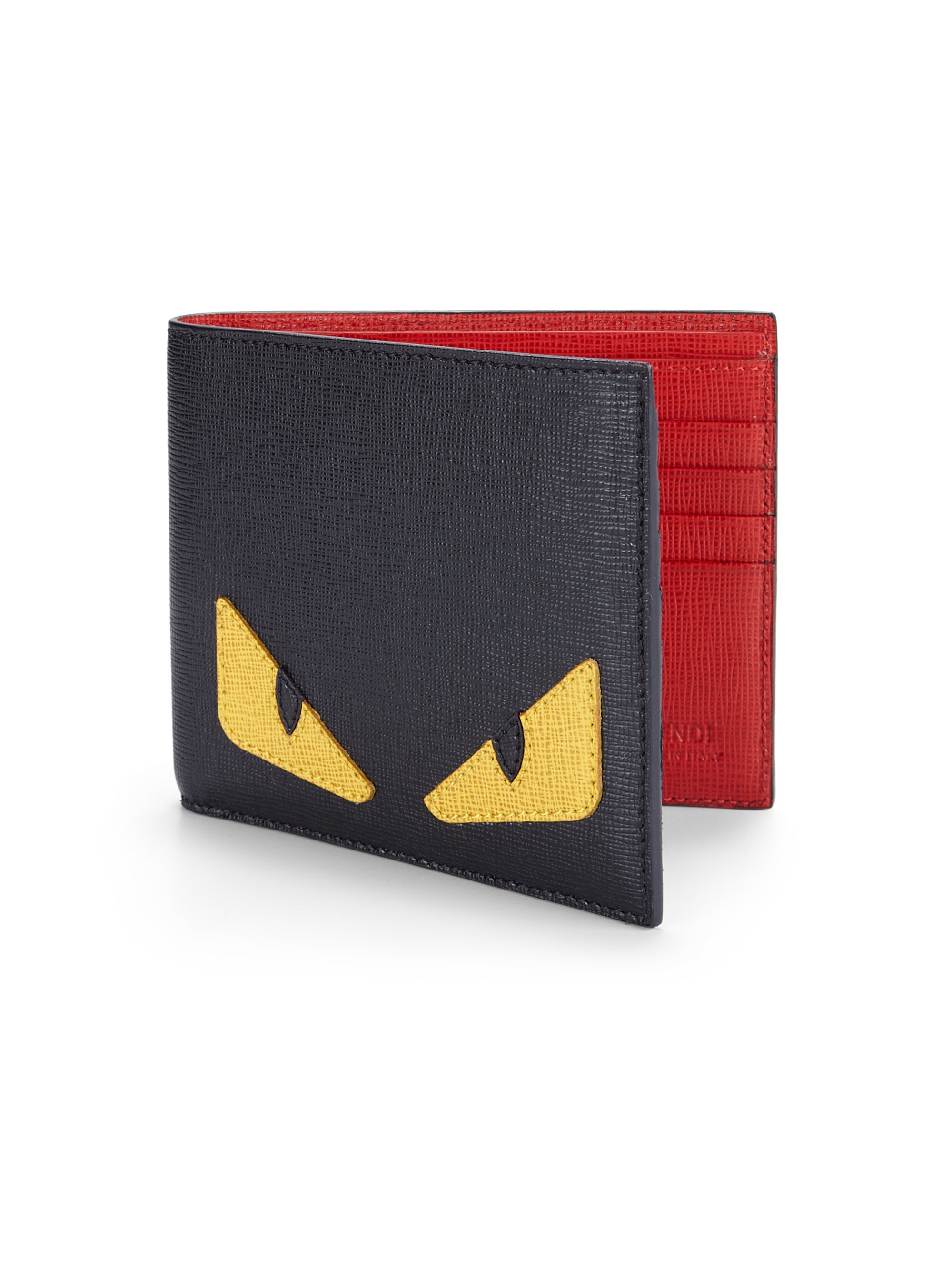 14903866279 Lyst - Fendi Simple Monster Wallet in Red for Men