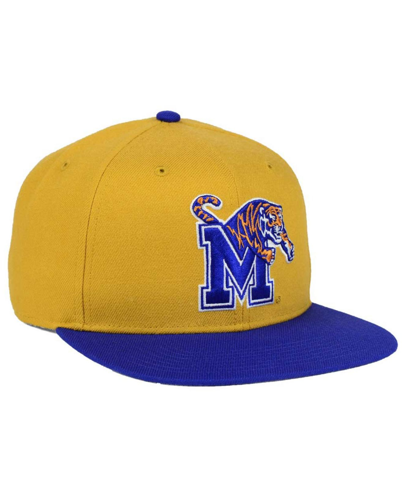 best service 78038 bdf36 ... best price lyst 47 brand memphis tigers sure shot snapback cap in  natural for men 6dc59