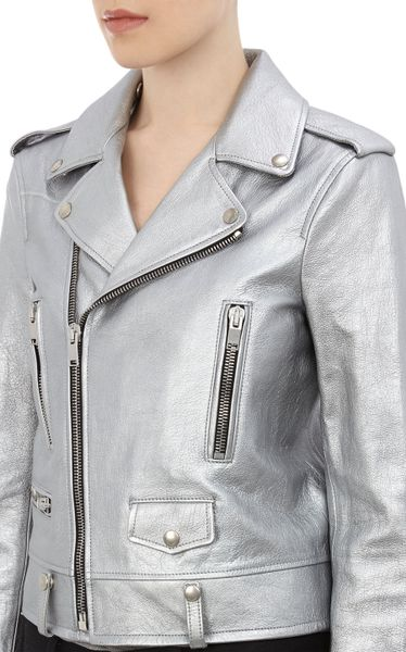 Saint Laurent Leather Jacket Womens