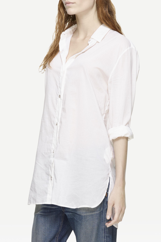 Lyst rag bone beau shirt in white for Rag bone shirt