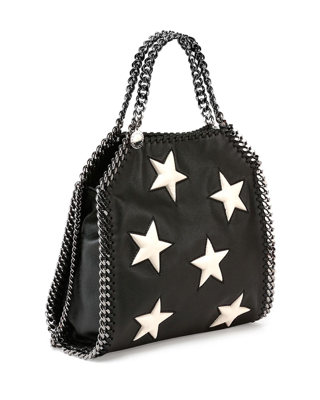 a88a9e2c36a0 Lyst - Stella McCartney Falabella Mini Star Shoulder Bag in Black