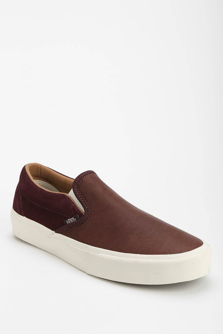 Leather Keds Slip On Shoes