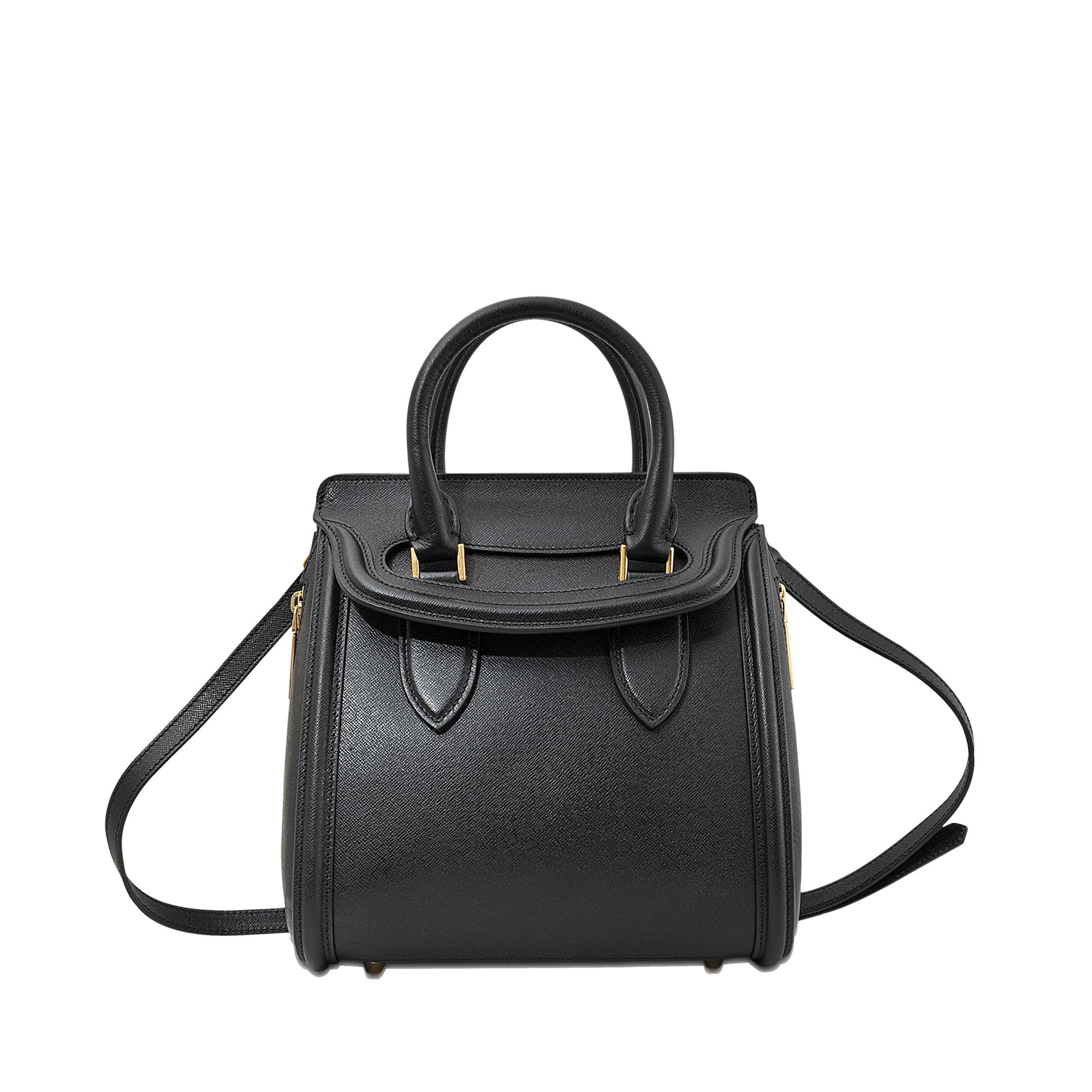 lyst alexander mcqueen small heroine bag in black. Black Bedroom Furniture Sets. Home Design Ideas