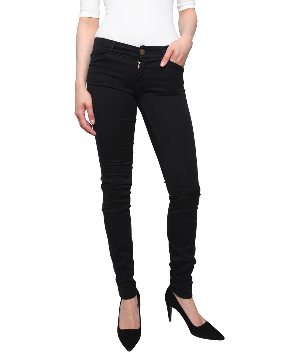 Lyst - Current/Elliott Black Denim Leggings in Black