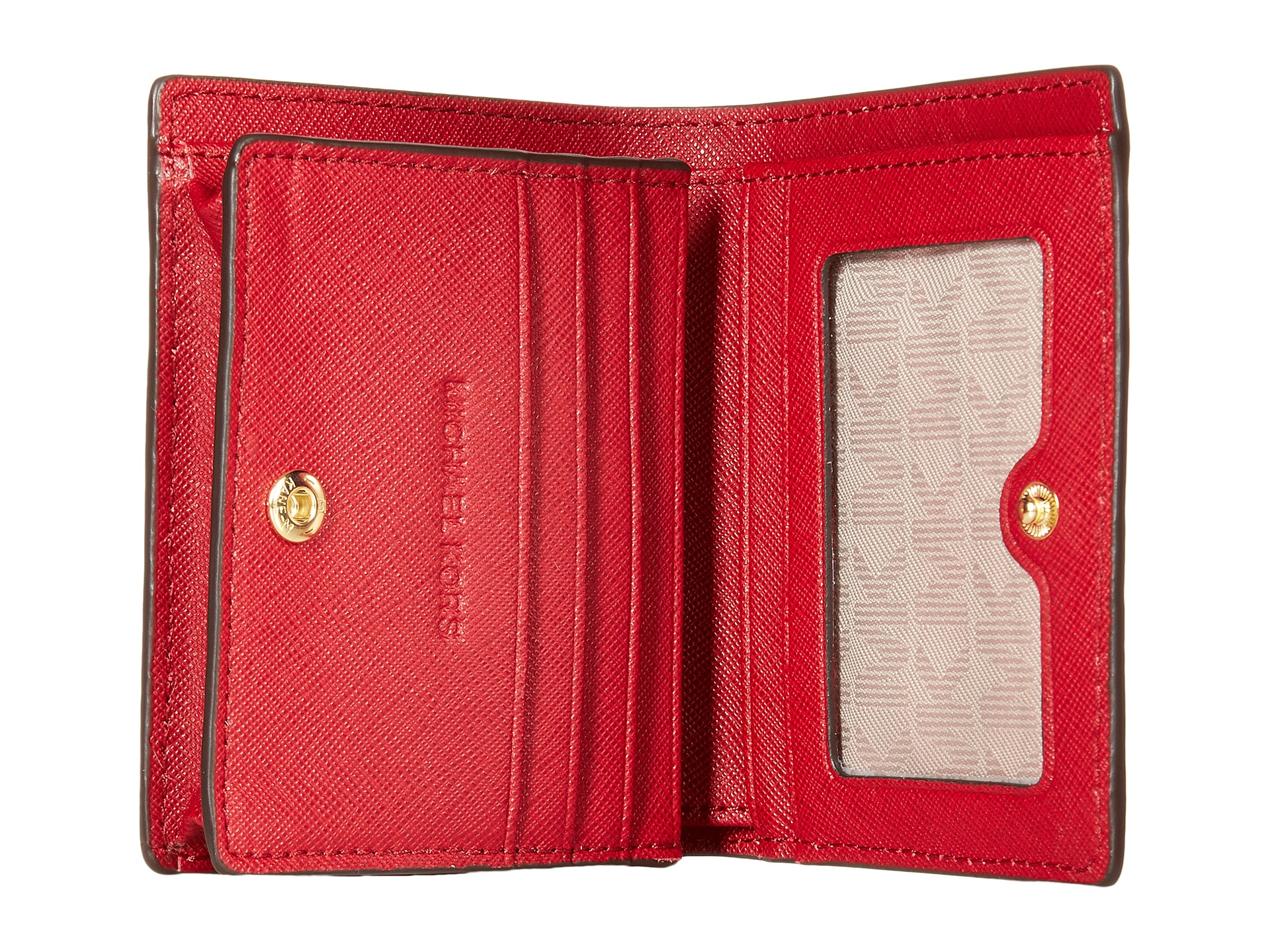 e0bc6e34cbc2 Lyst - MICHAEL Michael Kors Jet Set Travel Flap Card Holder in Red
