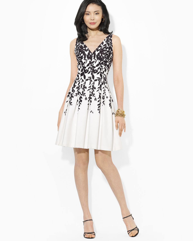 Lyst Ralph Lauren Lauren Dress Sleeveless Floral Print Fit And