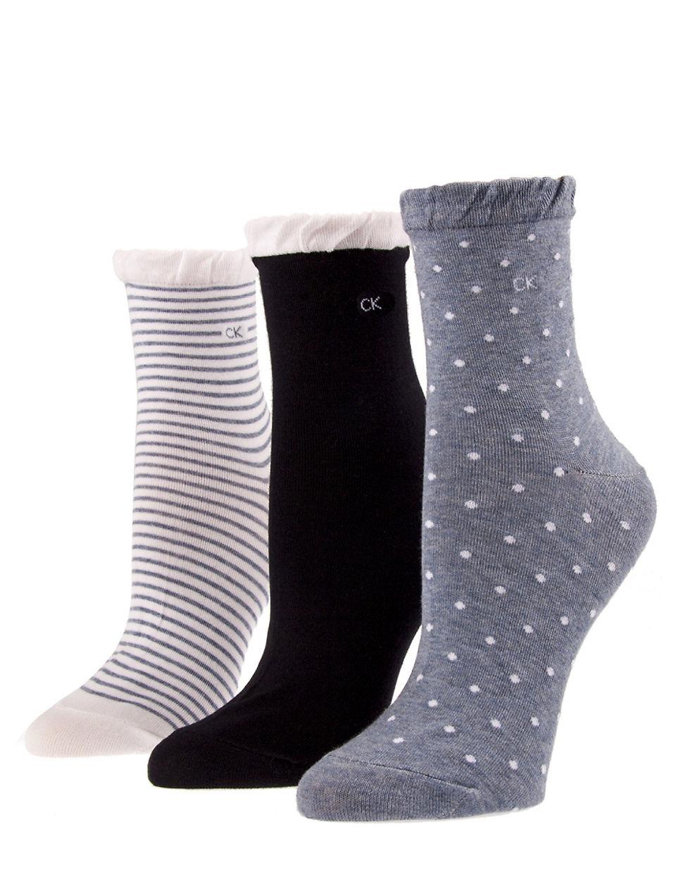 Lyst - Calvin Klein 3-pack Ruffled Socks for Men Ruffled Socks
