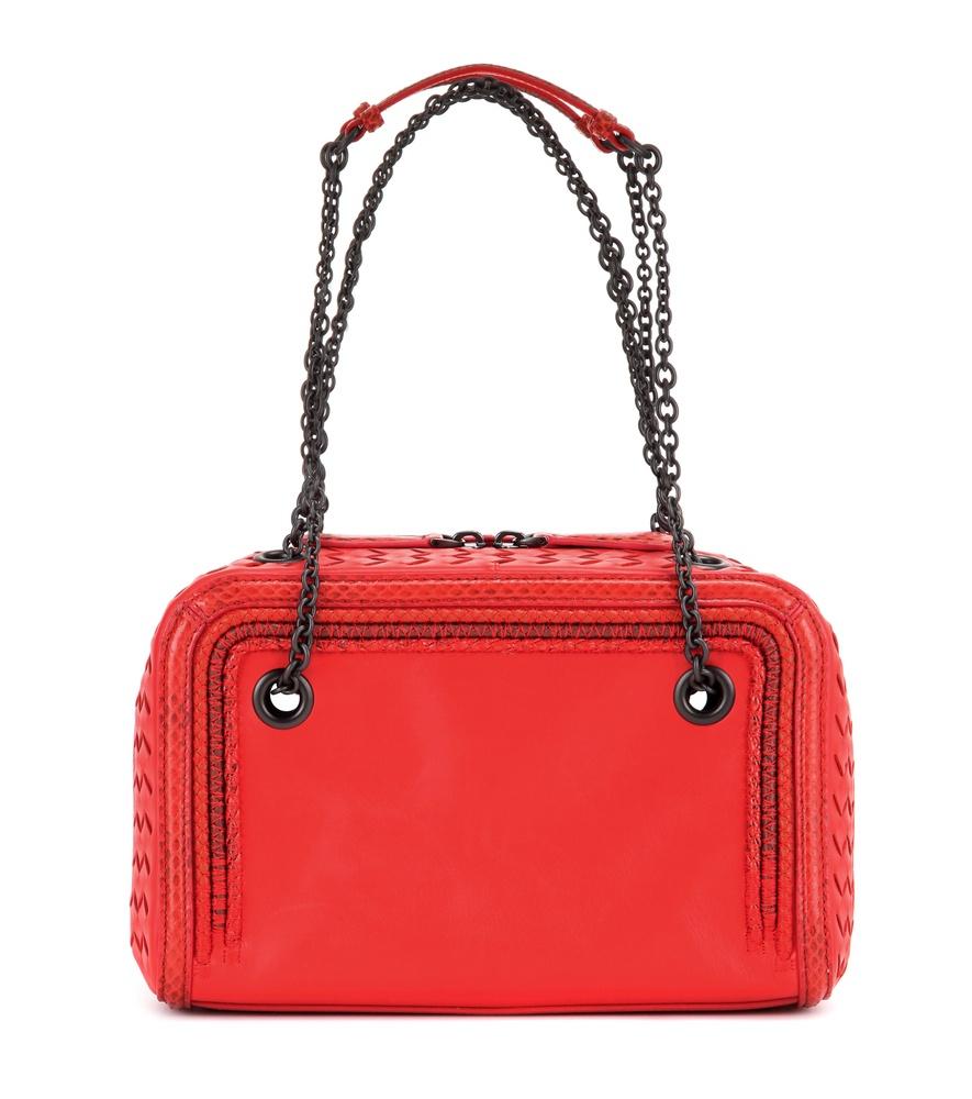 47ae016c5044 bottega veneta wallet sale - Bottega veneta Intrecciato Leather And  Snakeskin Shoulder Bag in .