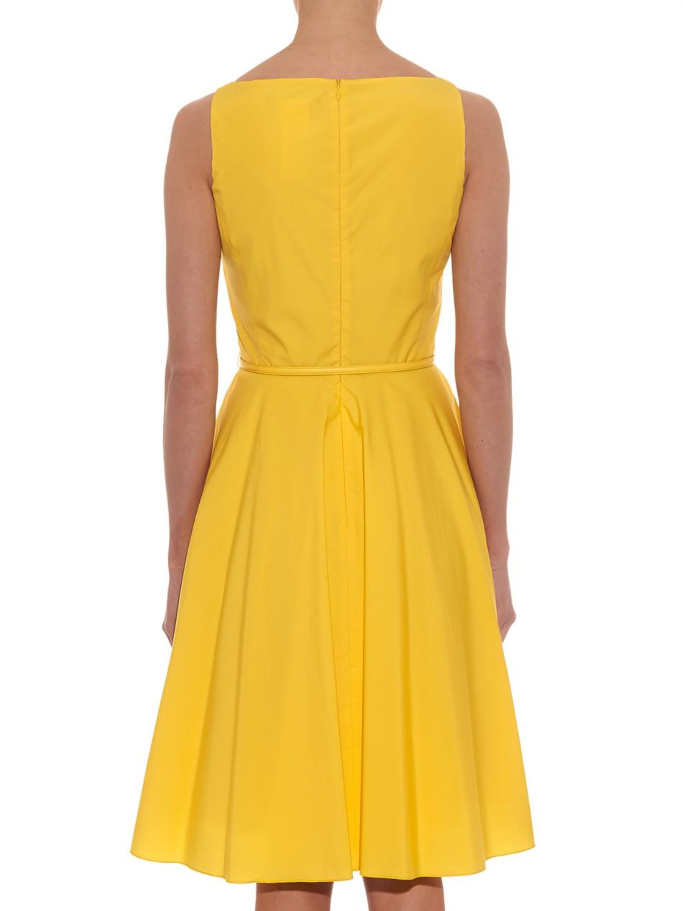 Max mara studio Asiago Dress in Yellow