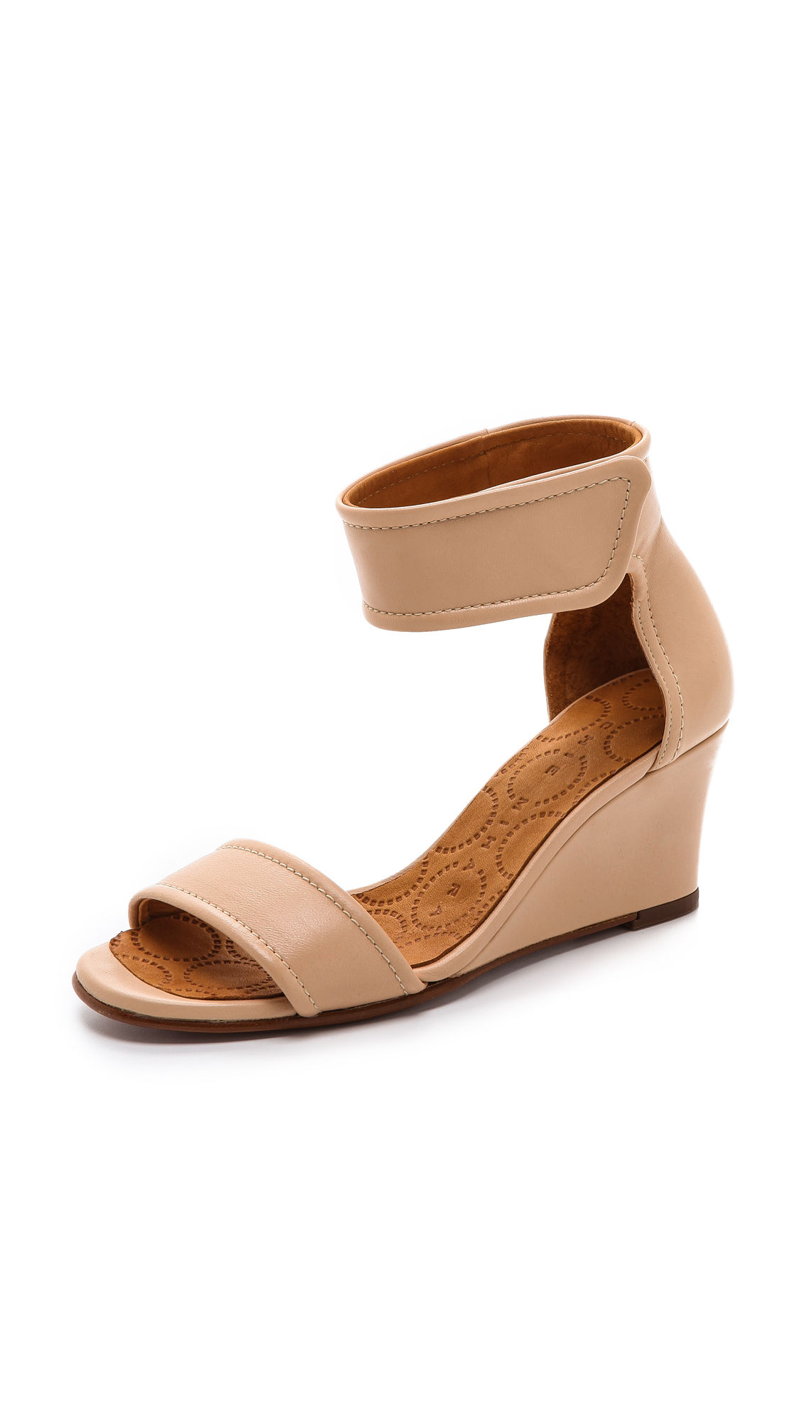 Lyst Chie Mihara Suspiro Wedge Sandals In Natural
