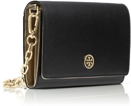 Robinson Wallet on a Chain Tory Burch Robinson Wallet on