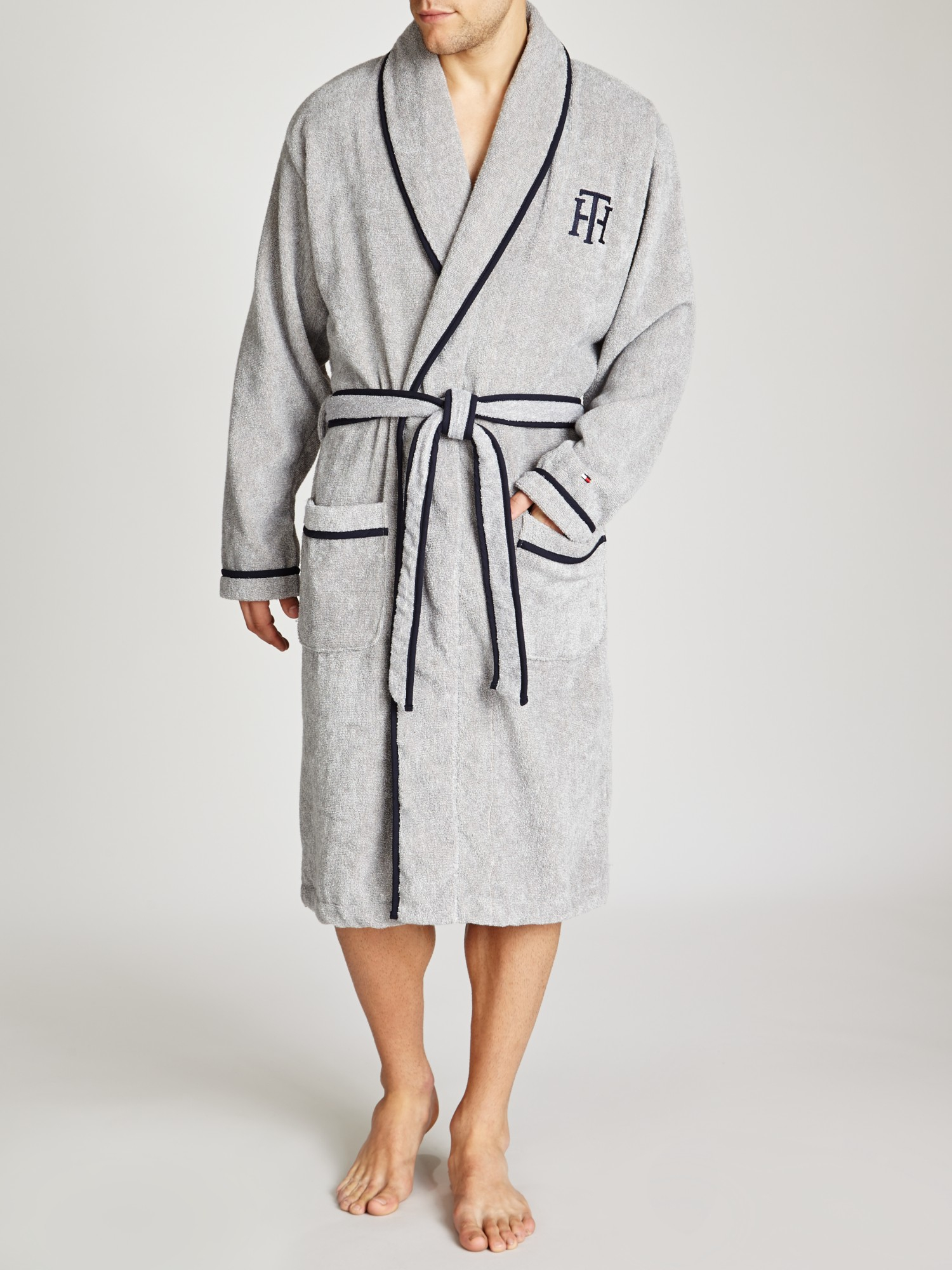search for authentic limited style new york Tommy Hilfiger Gray Enzo Towel Robe for men