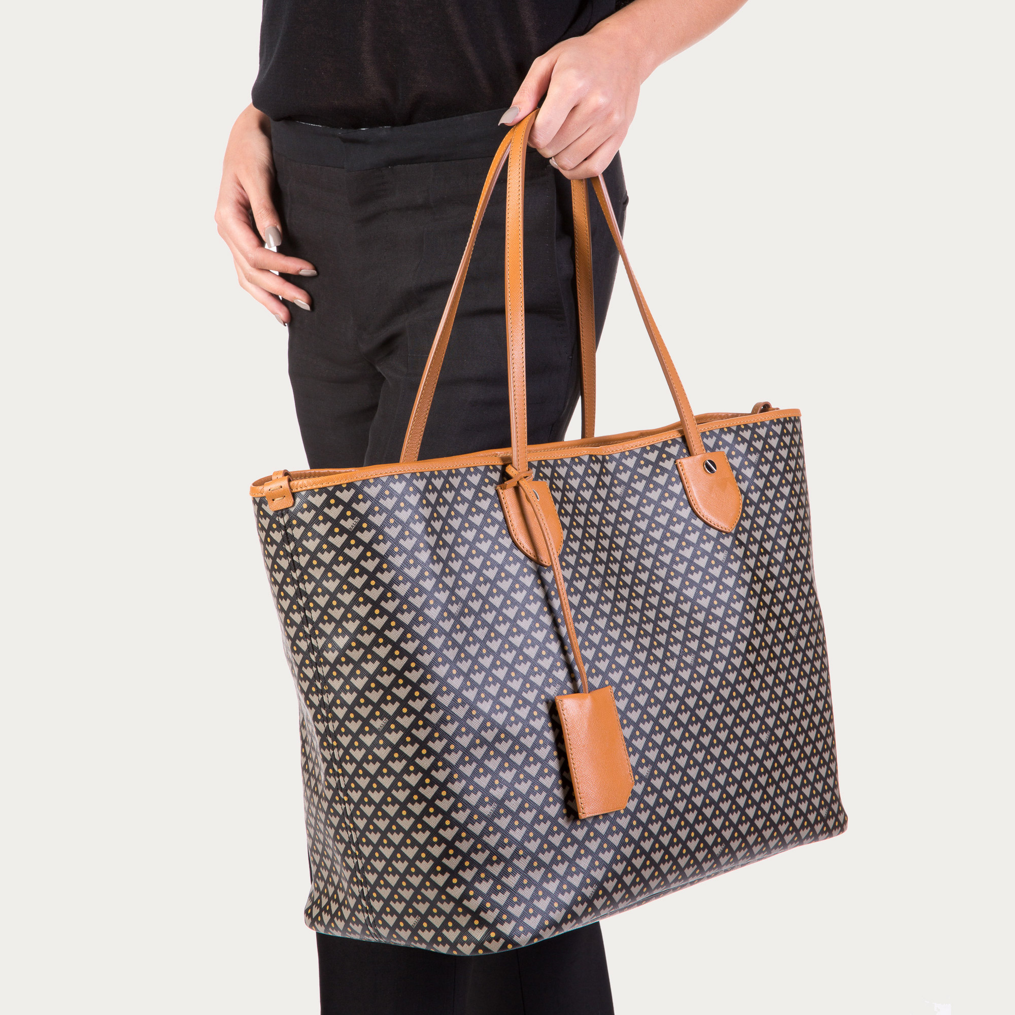 6fc683745d Lyst - Bally Bernina Large Women s Large Coated Canvas Tote Bag In ...