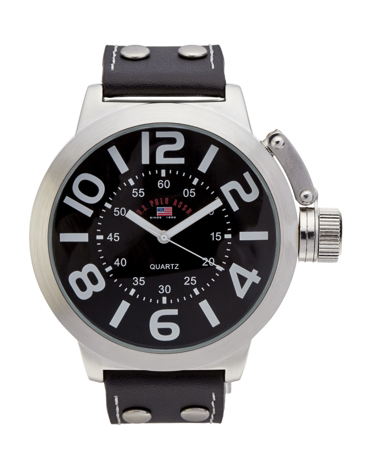 U AssnUs5207 For Silver In Black Men sPolo Lyst Toneamp; Watch R4j5LA