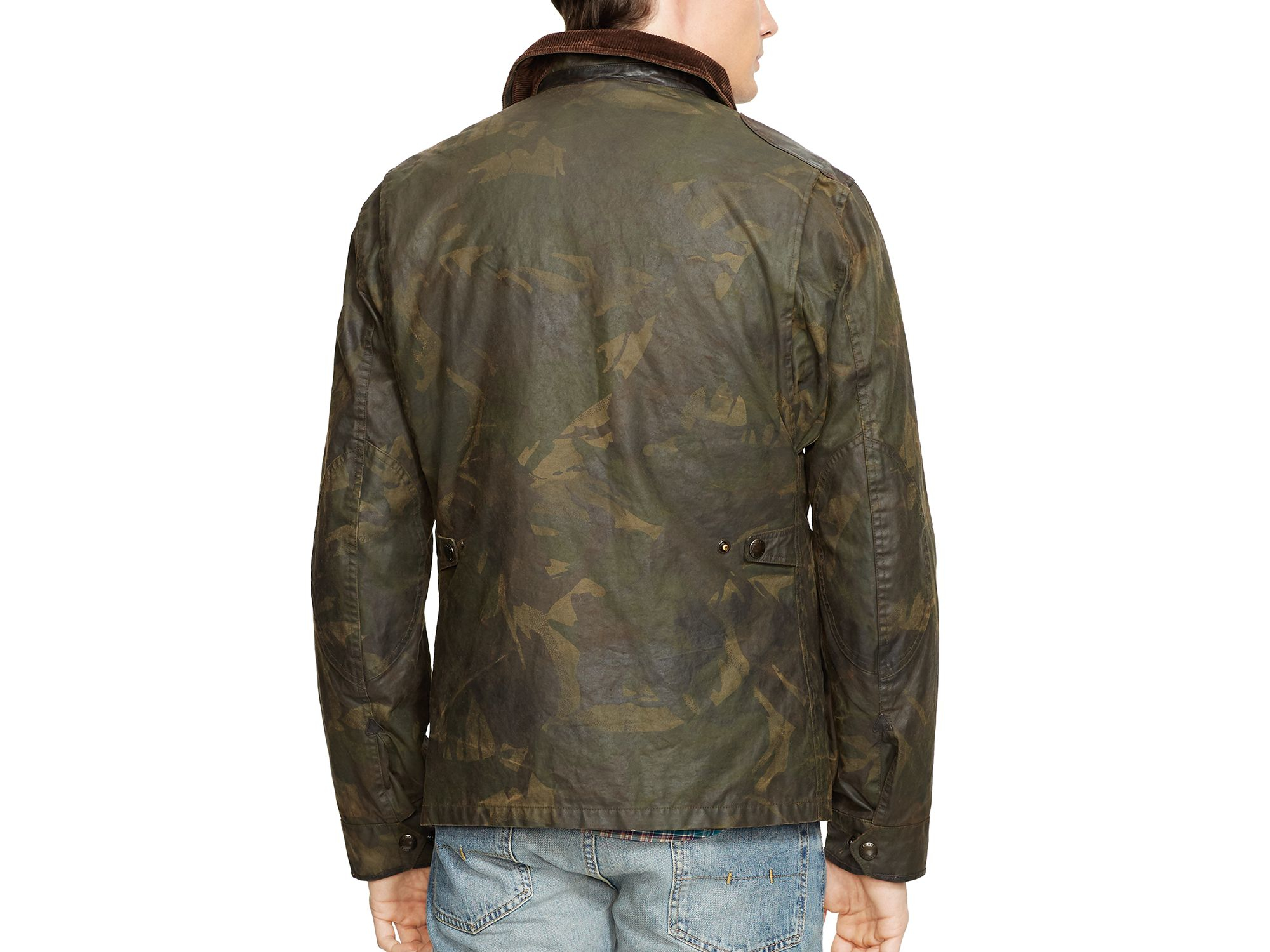 Ralph lauren Polo Camo Oilcloth Hunting Jacket in Green for Men   Lyst