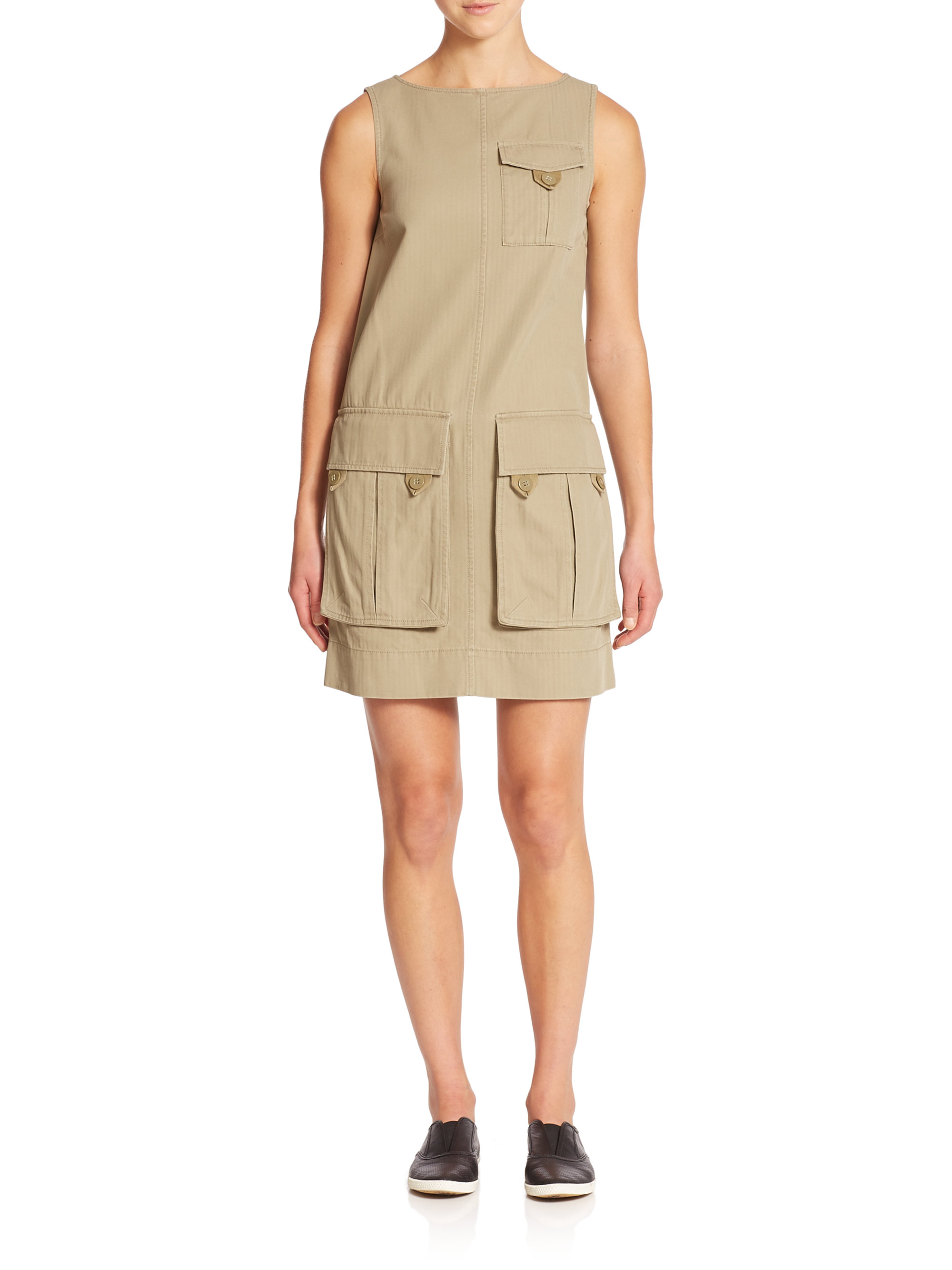 Lyst Marc By Jacobs Greenwich Army Cotton Cargo Dress In Brown Tania Blouse Mustard Beatrice Clothing Gallery