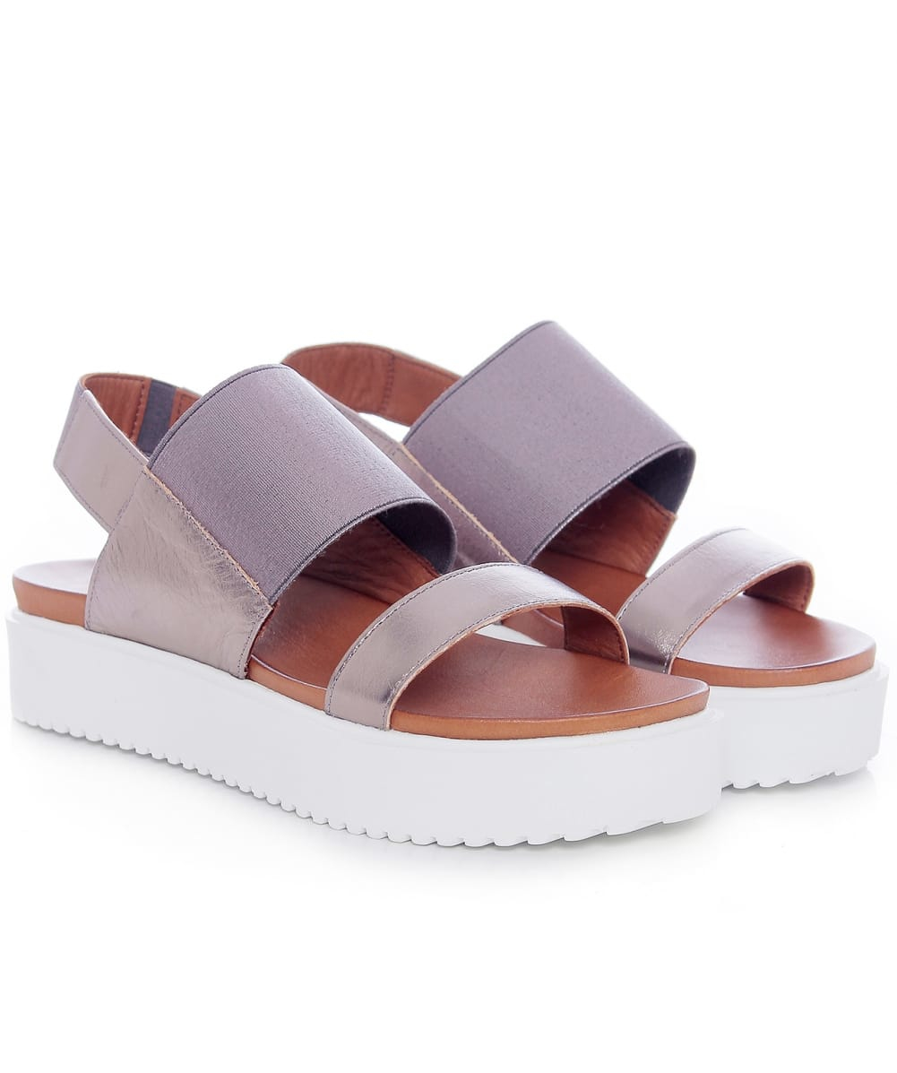 8296527e440 Lyst - Inuovo Double Strap Wedge Sandals in Brown