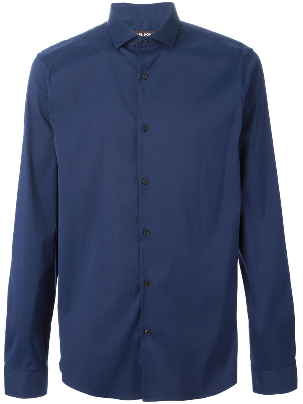 Michael kors spread collar shirt in blue for men lyst for What is a spread collar shirt