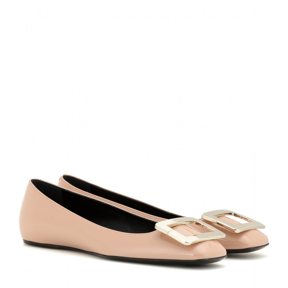 clearance excellent outlet 100% original Roger Vivier Patent Leather Square-Toe Flats cheap top quality sneakernews outlet discount authentic o5WOzIE1